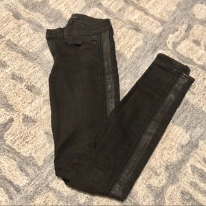 [J Brand] Black Jeans with Leather Detail